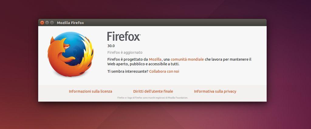 Mozilla Firefox 30 in Ubuntu Linux