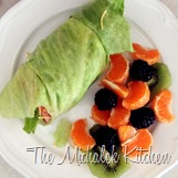 Turkey Wrap and Fruit