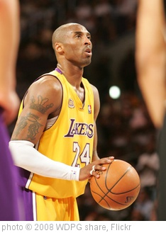 'kobe bryant' photo (c) 2008, WDPG share - license: http://creativecommons.org/licenses/by/2.0/