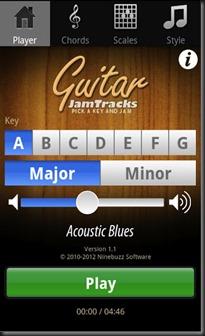 guitar jam tracks free