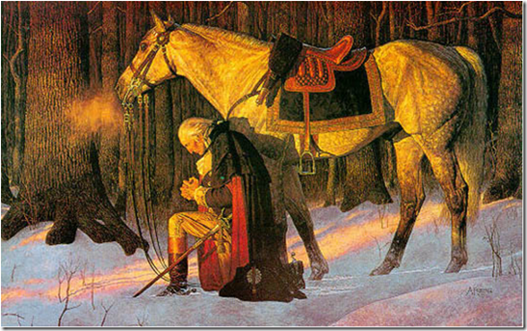 "Painting of General George Washington: ""The Prayer at Valley Forge"""