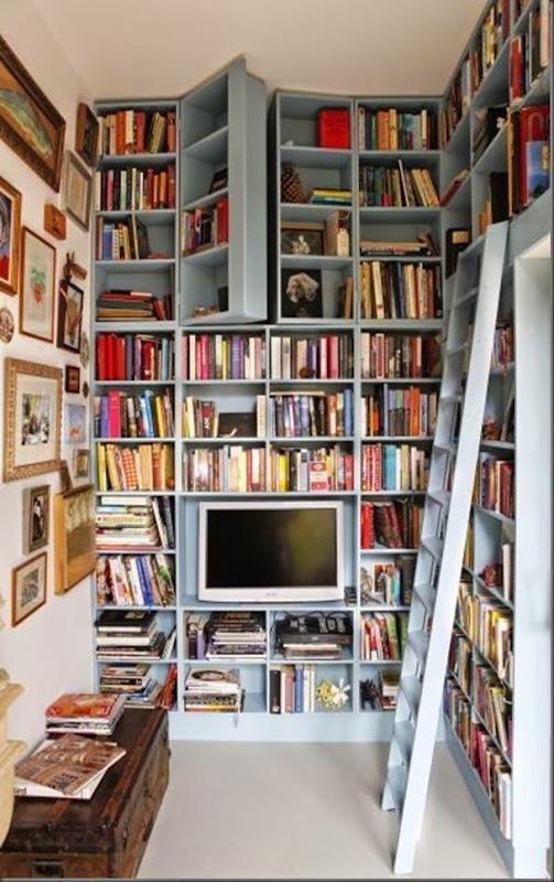 Biblioteca con lugar secreto