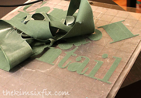 Silhouette cutting fabric letters