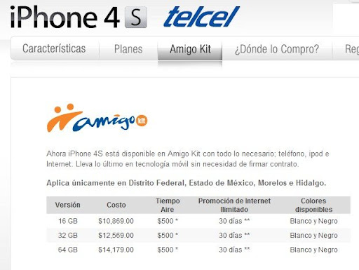 Mexico: Iphone 4S Telcel