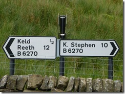 swaledale signpost