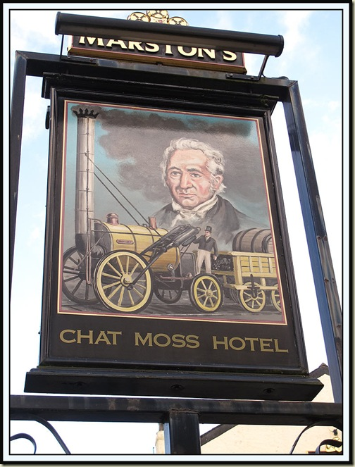 Chat Moss Hotel - a meaningful pub sign!