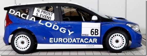 Dacia Lodgy MPV 12  - Nogmaals silhouet nu vanaf de andere kant