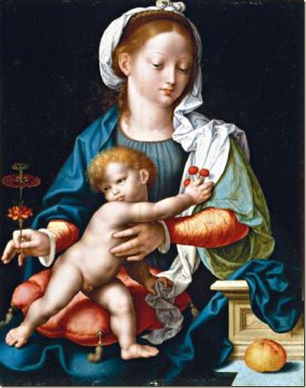 Van Cleve, Vierge à l'enfant