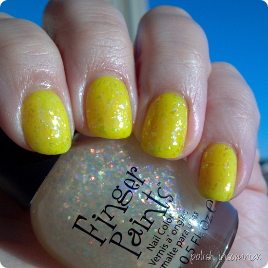 FingerPaints Asylum over Bootie Babe Electric Lemon 3