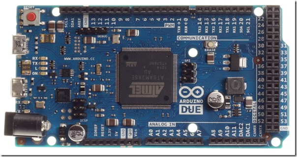 Arduino Due, the 32-bit board ARM Cortex M3 Processor