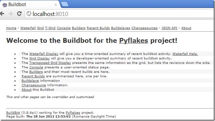 buildbotpage