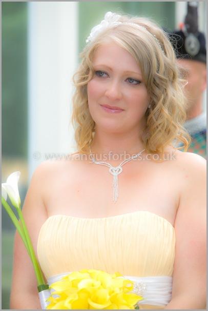 Bridesmaid wedding photography dundee