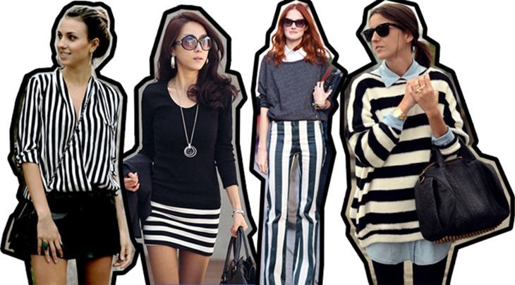 moda listras preto e branco