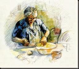 Zia in cucina