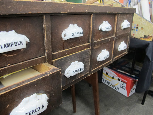 Vintage apothecary drawers. So lovely!