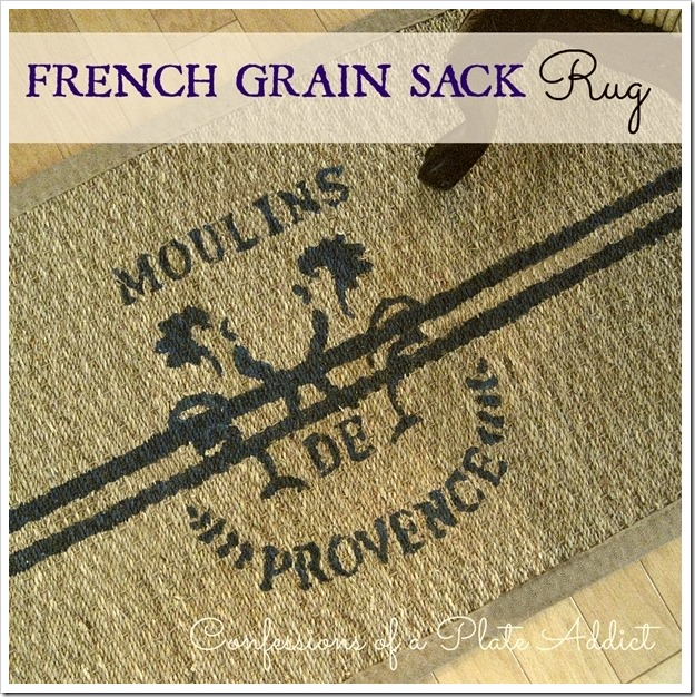 CONFESSIONS OF A PLATE ADDICT French Grain Sack Rug