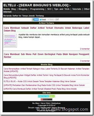 Blogger Mobile Themes - Eltelu Hitam Putih