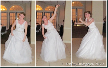 bride happy dance