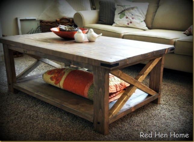 Rustic X 002a - Red Hen Home: The Rustic X Coffee Table