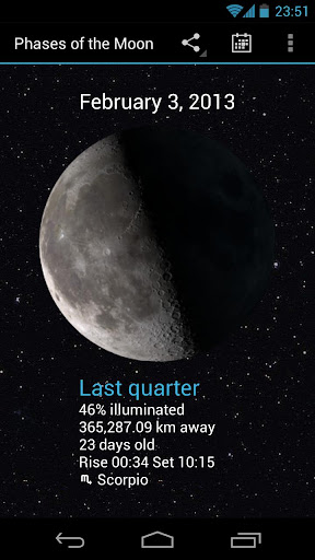 Phases of the Moon Pro - screenshot