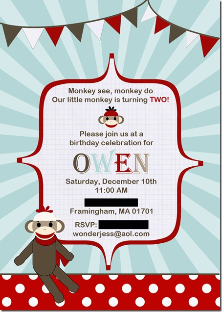 edited monkey invite