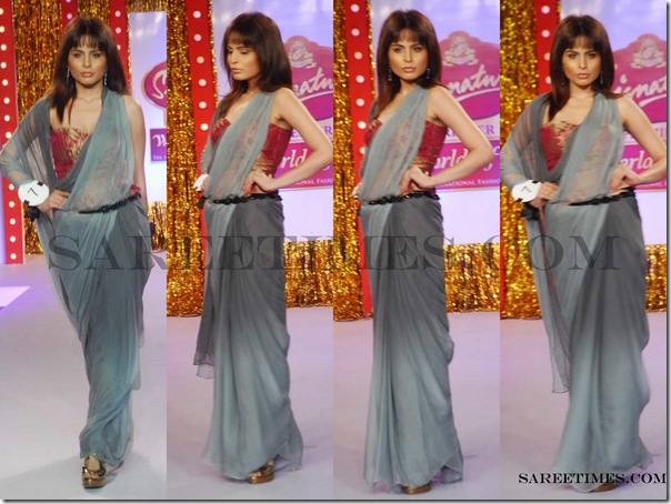Signature_Fashion_Show_Grey_Designer_Saree