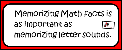 Memorizing math facts is as important as memorizing letter sounds.  Students cannot build a mathematical understanding without memorizing math facts.  Raki's Rad Resources