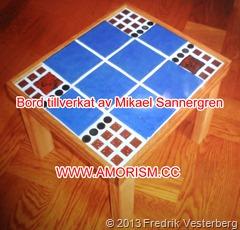 DSC07423.JPG Amorism bord tillverkat av Mikael Sannergren. Med amorism