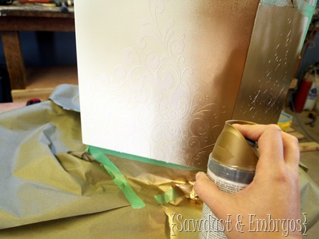 Paint over vinyl as a stencil! {Sawdust and Embryos}