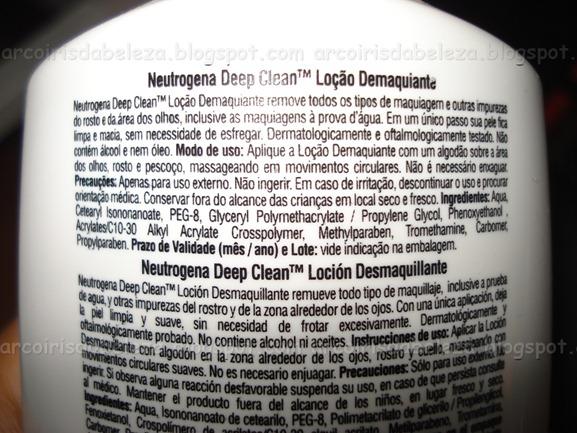 Loção Demaquilante Deep Clean - Neutrogena