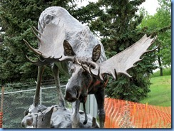 0959 Alberta Calgary - Heritage Park Historical Village - sculpture