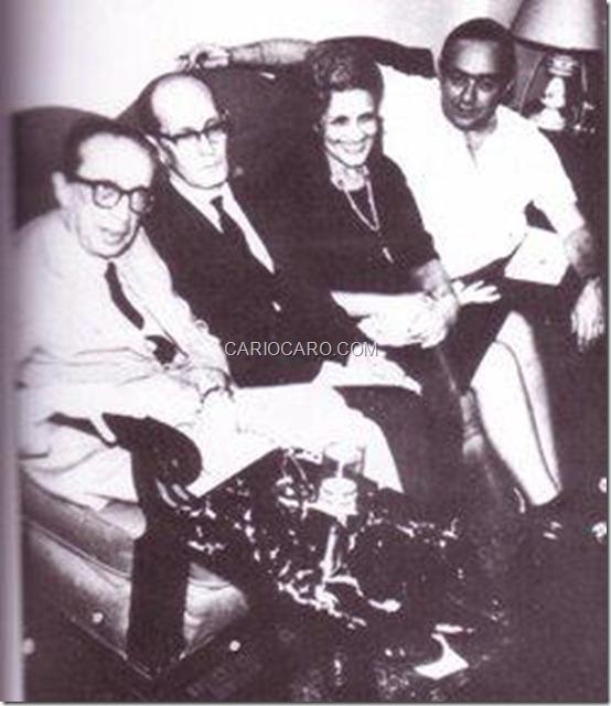 Manuel Bandeira, Carlos Drummond de Andrade, Cecília Meireles e Vinicius de Moraes