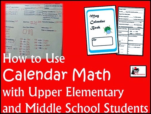 How to Use Calendar with Upper Elementary and Middle School Students - Ideas and Resources from Raki's Rad Resources
