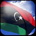 3D Libya Flag + icon