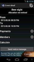 Screenshot of Split bill card