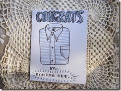 Blue Shirt Congrats