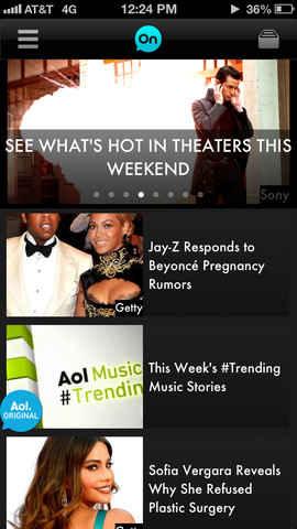 AOL en el iphone