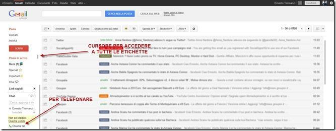 gmail aspetto
