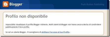 profilo non disponibile