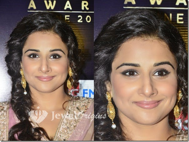 Vidya_Balan_Gold_Earrings