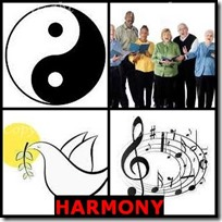 HARMONY- 4 Pics 1 Word Answers 3 Letters