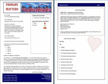 Primary Newsletter July