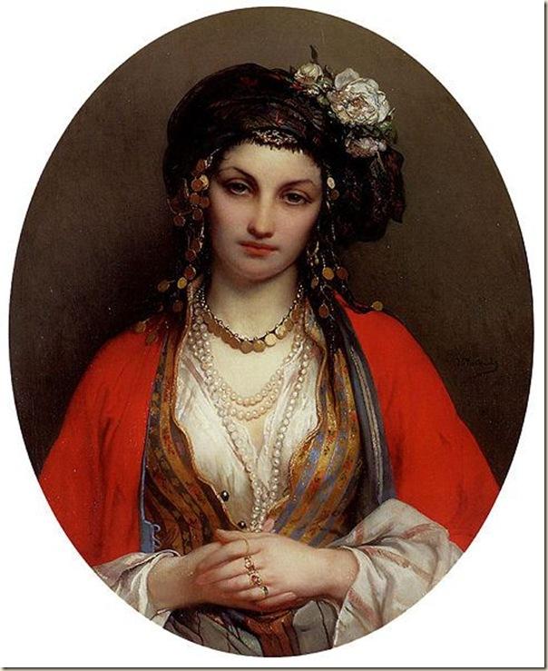 Jean -François Portaels, Portrait d'une maghrébine