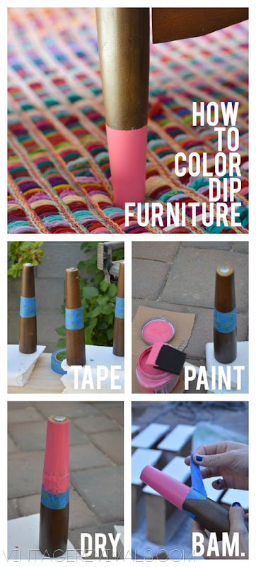 How To Color Dip Furniture