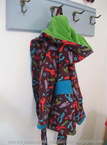 bathrobe. handmade