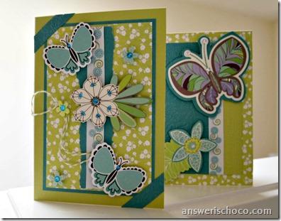 Kiwi and Turq Cards