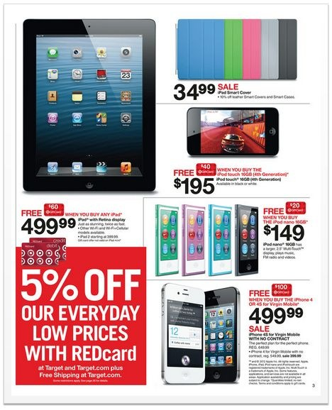Target Black Friday 2012 ad - Apple product deals