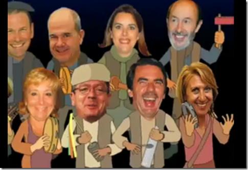 navidad humor politicos españoles
