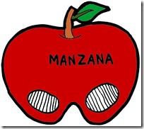 CARETA MANZANA COLOREADA