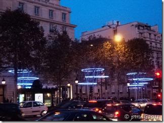 les illuminations sur les Champs...